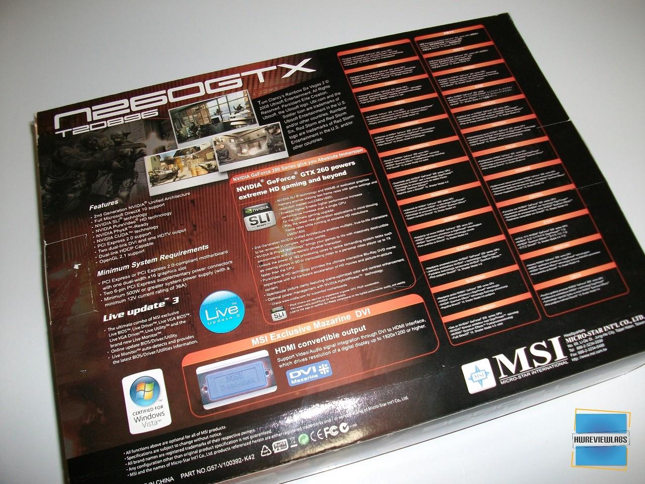 Msi N260GTX-T2D896-OC review